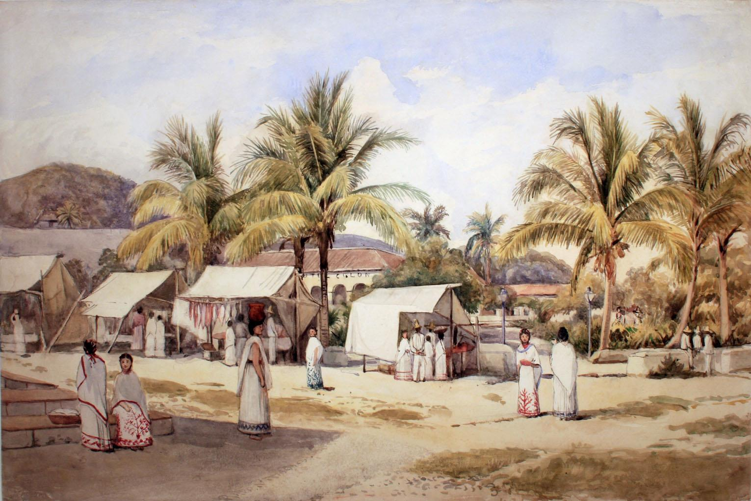 Adela Catherine Breton - The Market Place at Papantla - c1894