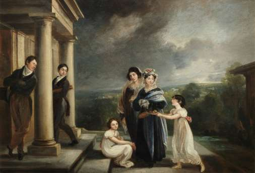 Thomas Barker, The Deare Family of Bath, Oil on Canvas, circa 1818