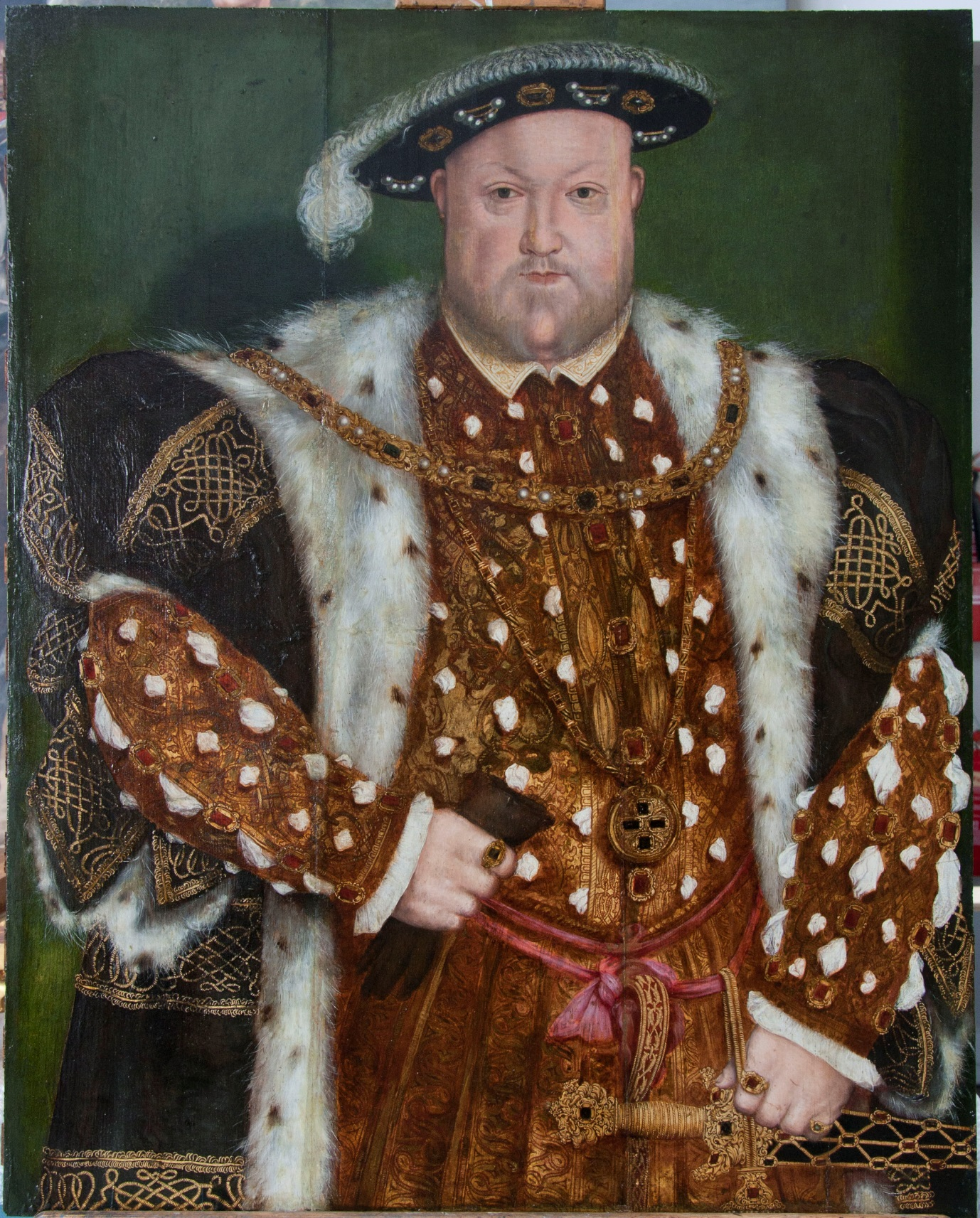 A Portrait of King Henry VIII at the Victoria Art Gallery Bath