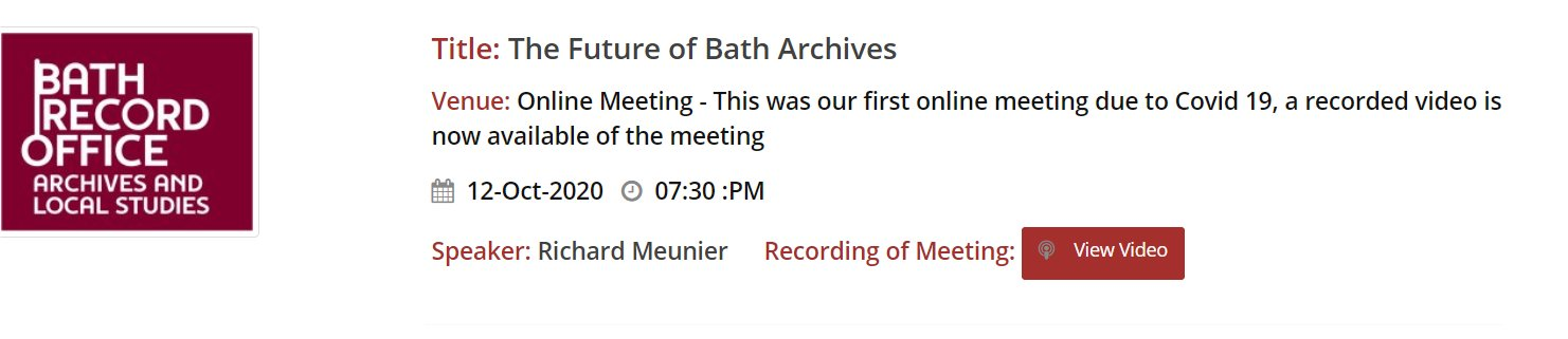 Recorded Meetings Now Appearing on Our Website