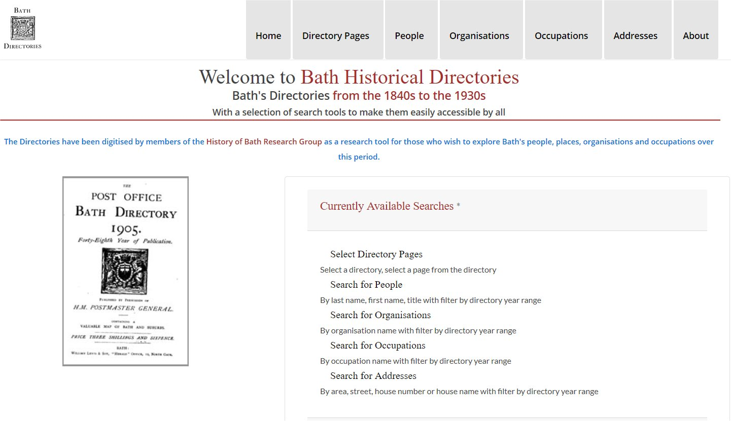 Bath Historical Directories Launched