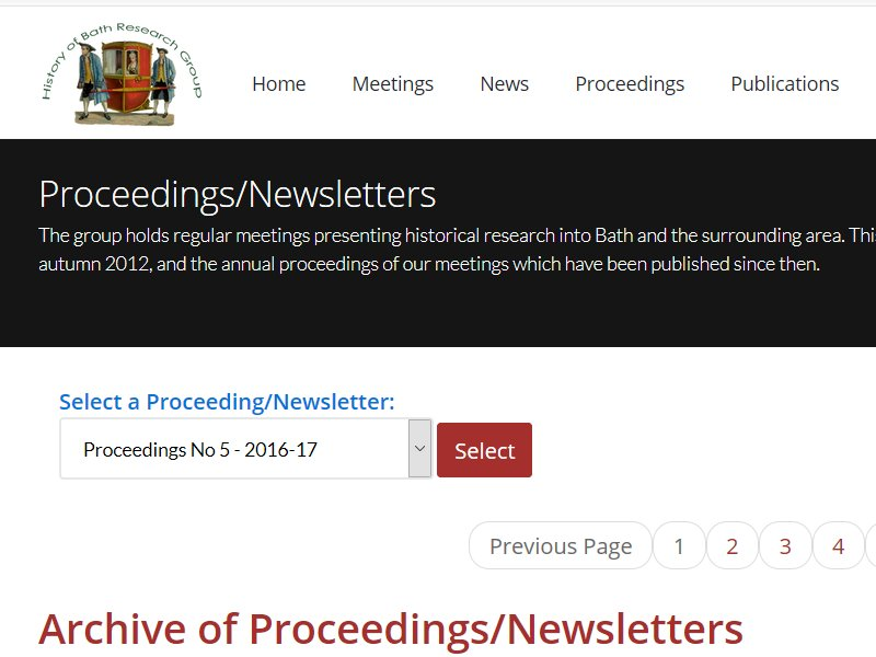 New Website - Search Tool Added to Proceedings/Newsletters Page